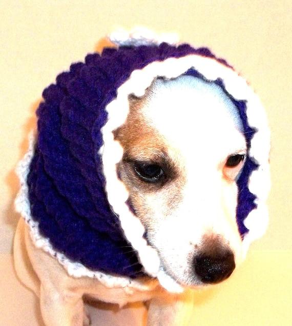 Knitted Purple Dog Hoodie