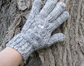 Night Owl Cable Gloves - Mockingbird