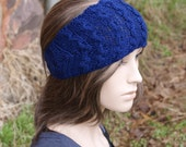 Light-Weight Cable Headband - Navy