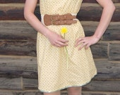 Boho Dress - Yellow Country Floral - XS 4/6