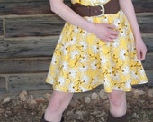 Tea Time Dress - Dandy Yellow - (Custom - Any Size)