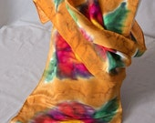 Fall in love with roses,hand painted, silk scarf