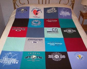 Custom memory tshirt quilt
