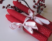 Christmas Red Beeswax Candles