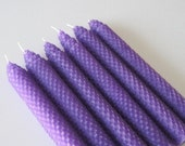 Purple Beeswax Candles