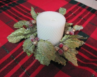 Pure as the driven snow Beeswax Candle