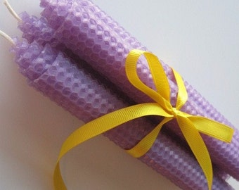 """8"""" Lavender Beeswax Tapers"""