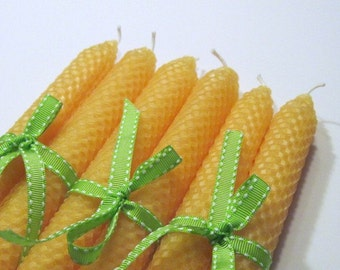 Yellow Beeswax Candles