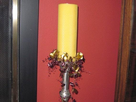 Natural Beeswax Pillar