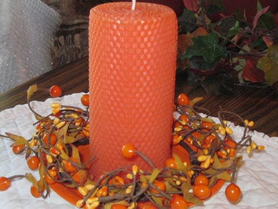 Orange Beewax Candle