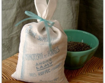 Vintage French Flour Sack Home Sachet