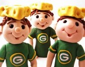 Green Bay Packers Cheese Head  Ornament Decoration Cake Topper