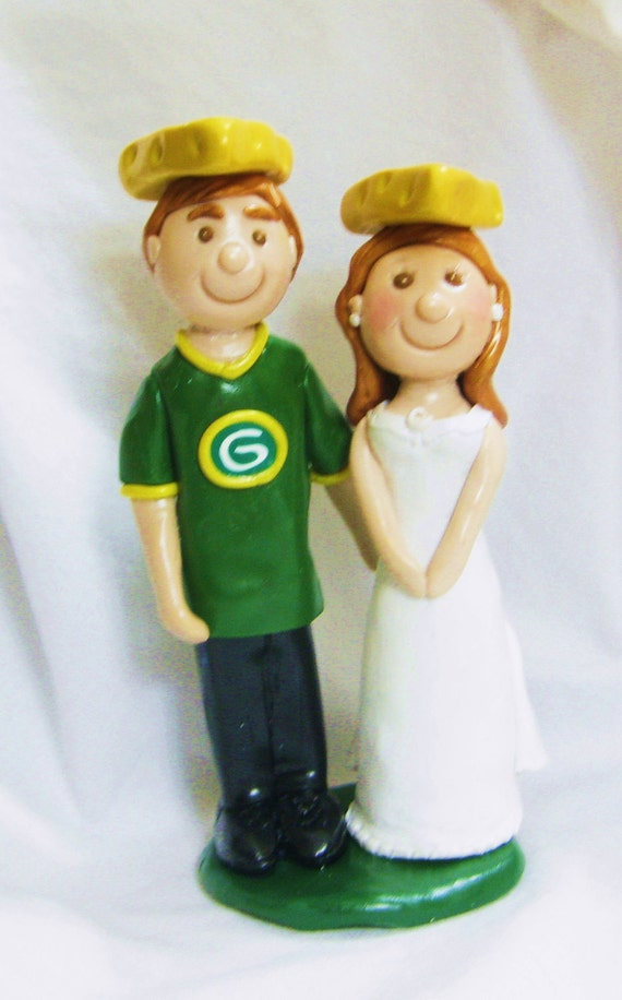 green bay wedding cake topper items similar to green bay packers cheesehead cake topper 14967