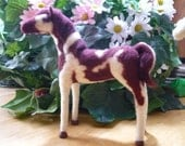 Painted Pony, Pinto Horse, Indian Inspired One Of A Kind Needle Felted