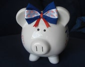 Collegiate Orange and Blue Piggy Bank