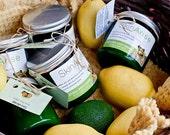 ALL NATURAL CREAMY SHEA SALT BODY SCRUBS: Lavendar-Lemon-Eucalyptus-Grapefruit-Orange-Rosemary