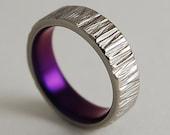 Titanium Ring , Wedding Band ,  Promise Ring , Womens Titanium Wedding Band , Womens Titanium Wedding Ring , Jupiter Band in Mystic Purple