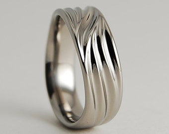 Wedding Band , Titanium Ring , Titanium Wedding Band , Titanium Wedding Ring , The Poseidon Band