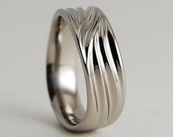 Wedding Band , Titanium Ring , Titanium Wedding Band , Titanium Wedding Ring , The Poseidon Band