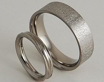 Titanium Wedding Rings ,  Acropolis and Sphinx Bands