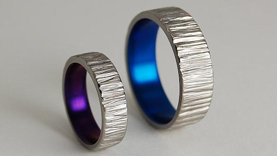 Titanium Rings Wedding Bands Titanium Wedding Ring Set