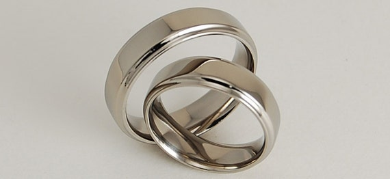 Wedding Bands , Titanium Rings , Neptune Bands with Comfort Fit