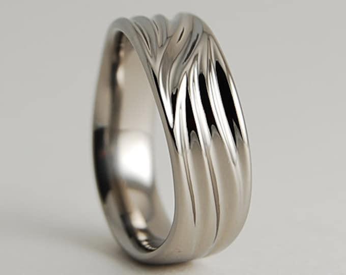 Featured listing image: Wedding Band , Titanium Ring , Titanium Wedding Band , Titanium Wedding Ring , The Poseidon Band