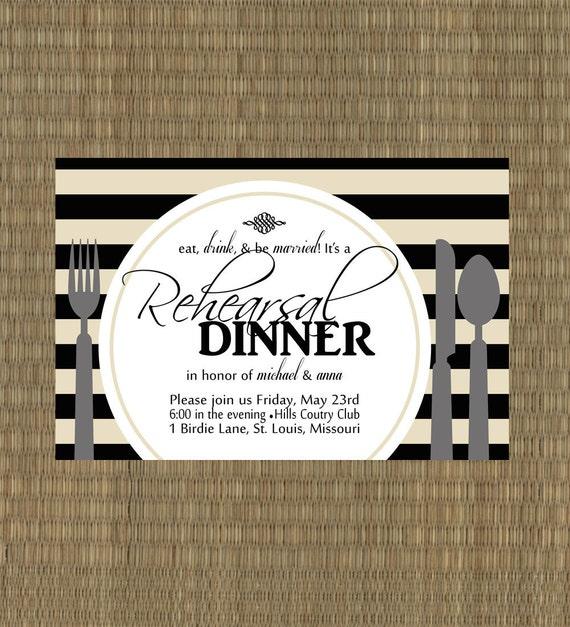 Items Similar To Printable Rehearsal Dinner Invitation