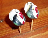 Vintage Turkey Cake Toppers