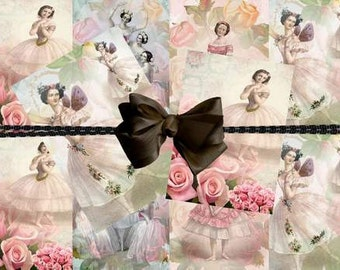 INSTANT DOWNLAOD Vintage BALLERINA Hang Tags  No:20  Personal Use Only