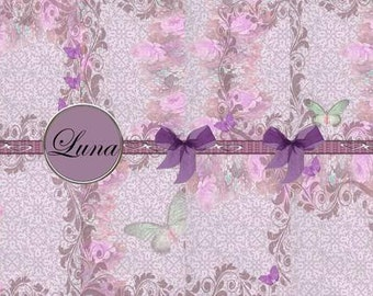 INSTANT DOWNLOAD Burgandy Butterfly Backgrounds  No:120  Personal Use Only