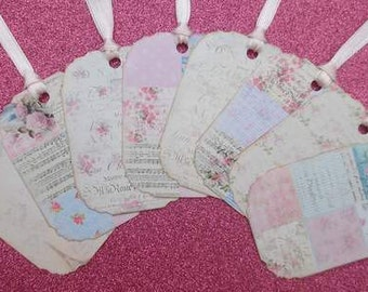 Shabby Chic Gift Tags set of 8  No.85