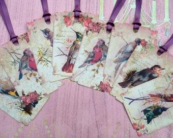 Beautiful Birds and Roses set of 8 No.329
