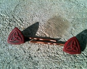 Pair of Red Triquetra Bobby Pins Freen Shipping