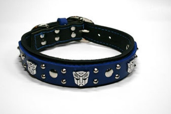 Transformer Leather Dog Collar Custom