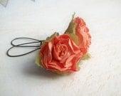 Paper Rose Flower Earrings