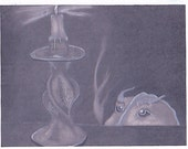 Gothic Greeting Card in charcoal