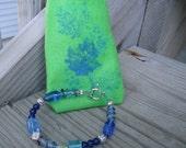 Blue and Purple Twist Bracelet With Gift Pocket