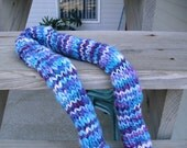 Blue and Purple Children's tube scarf, great for a Christmas Gift