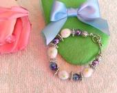 Lampwork Children's Spring Bracelet