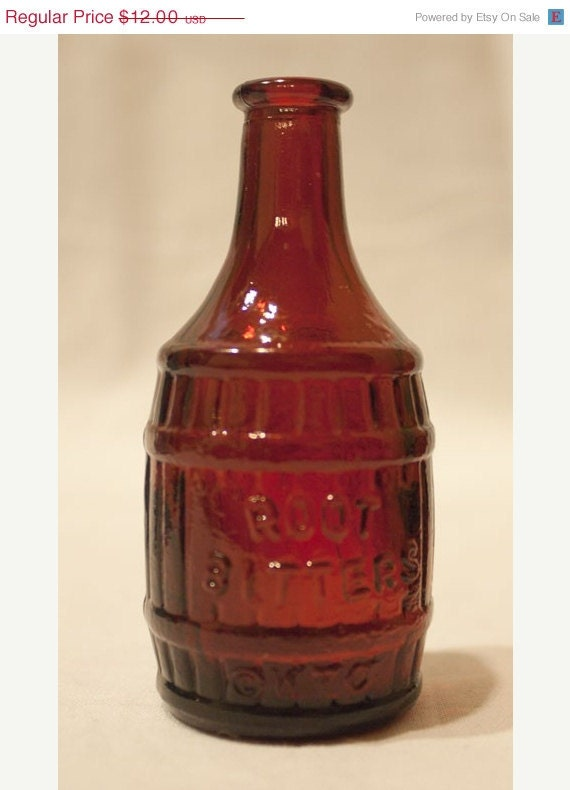 End Of Summer Sale 70s Glass Root Beer Bottle Vintage