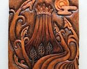 Wood Carving - Fantasy Wooden Wall Hanging (No.1)