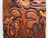 Wood Carving - Fantasy Wooden Wall Hanging (No.2)