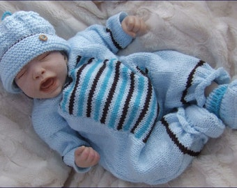Knitting Pattern Boy Doll : Baby Knitting Pattern Boys or Reborn Dolls by ...