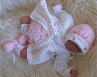 Downloadable Baby Doll Knitting Patterns : Alisha Baby Girl Instant Digital Download PDF Knitting Pattern - Reborn Doll ...