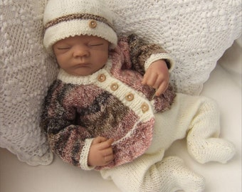 Baby Knitting Pattern - Tyler Baby Girl - Boy Download PDF Knitting Pattern - Reborn Dolls Knitting Patterns