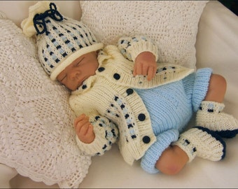 Baby Knitting Pattern - Toby Baby Boys or Girls Download PDF Knitting Pattern - Reborn Doll Knitting Patterns  Newborn Baby Knitting Pattern