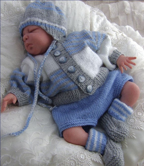 Knitting Patterns For New Baby : Baby Knitting Pattern Boys or Baby Girls by ...
