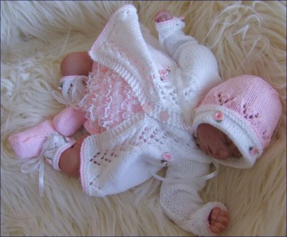 Baby Knitting Pattern - PDF Knitting Pattern - Alisha Baby Girls Digital Download PDF Knitting Pattern - Reborn Doll Knitting Patterns
