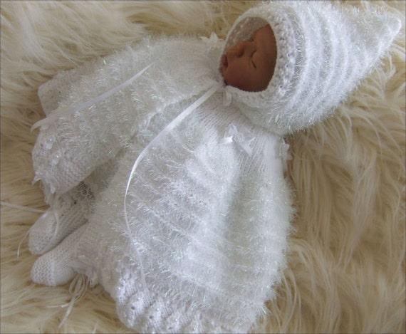 Knitting Patterns Of Baby Sets : Baby Knitting Pattern Girls or Reborn Dolls Download PDF